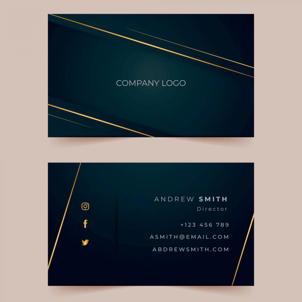 Primeiro exemplo de cartão de visita para advogado.