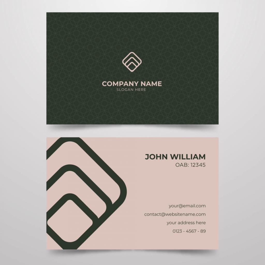 Quinto exemplo de cartão de visita para advogado.