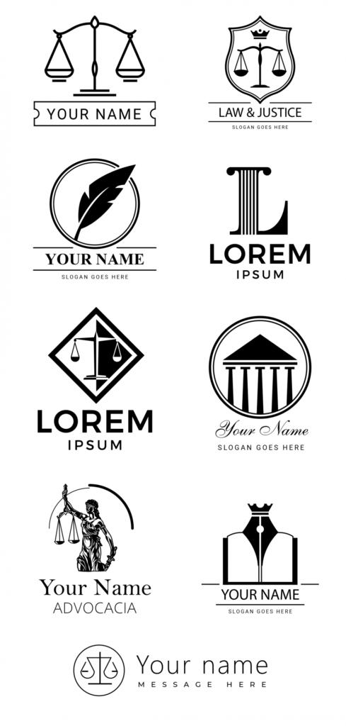 Exemplos de logotipo para advogado.
